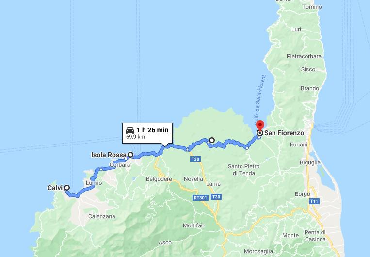 Itinerario in Corsica: Calvi - Ile Rousse - Désert des Agriates - Saint Florent