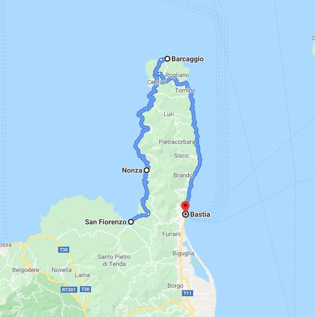 Itinerario in Corsica: il dito della Corsica in moto
