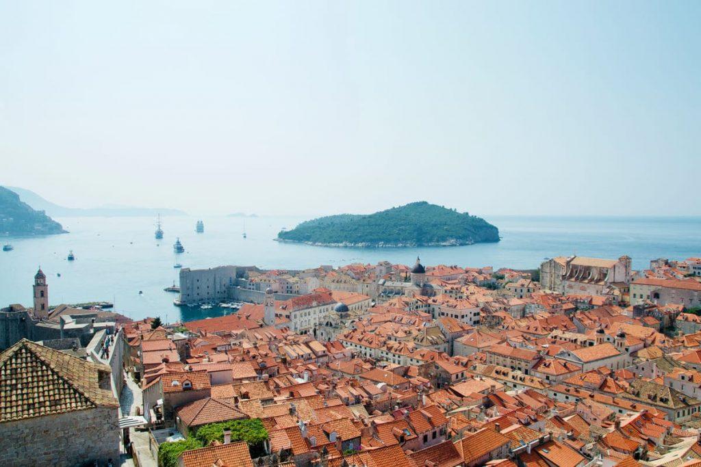 Vista Panoramica su Dubrovnik dalle Mura della Città