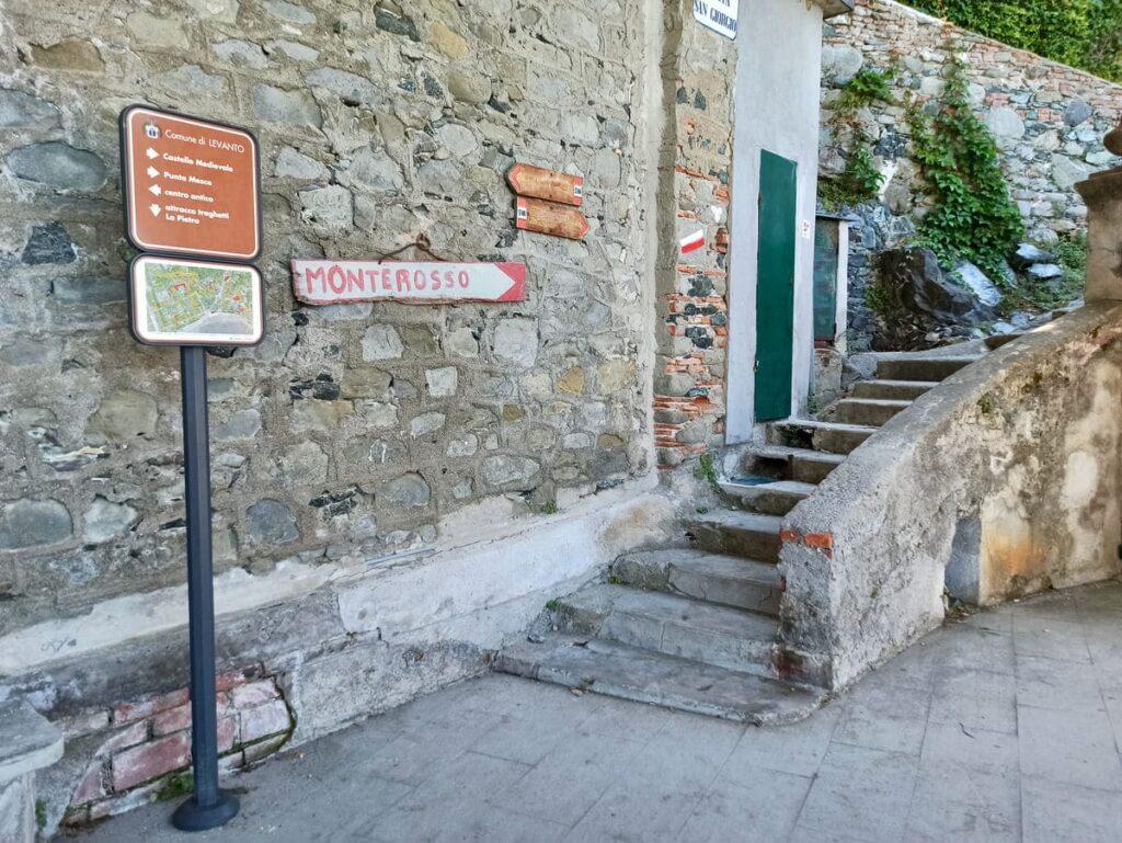 Inizio sentiero Levanto Monterosso