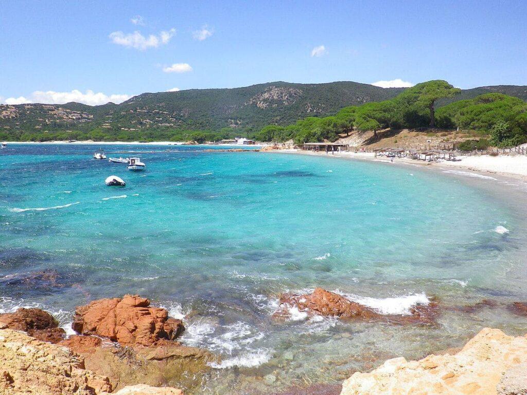 La spiaggia di Palombaggia nel sud della Corsica