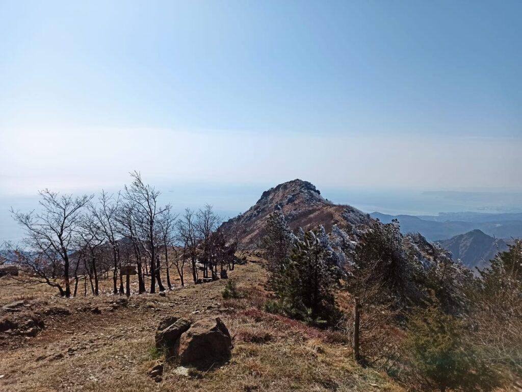 La vetta del Monte Reixa